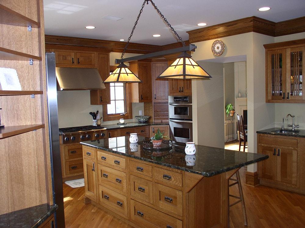 Arts Crafts Kitchen Design Mountain Lakes Leeb Architecture